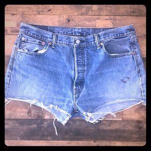 Levi's 501 Distressed Cut Off Shorts